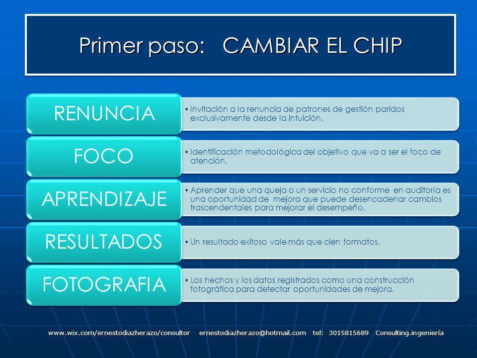 Primer paso: CAMBIAR EL CHIP