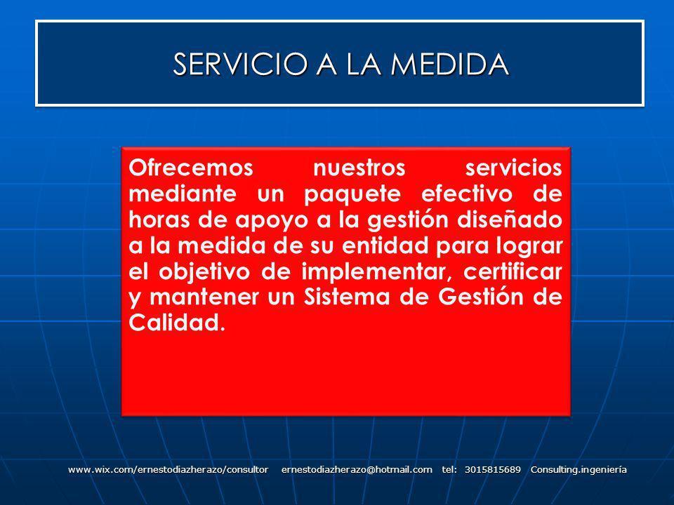 SERVICIO A LA MEDIDA