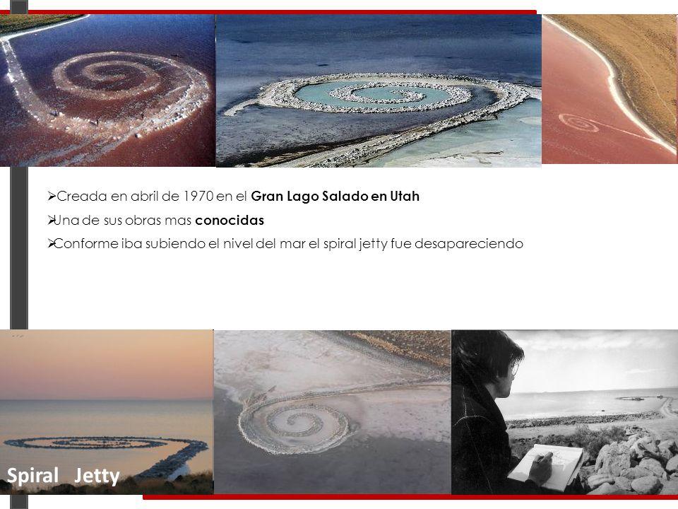 Spiral Jetty Creada en abril de 1970 en el Gran Lago Salado en Utah