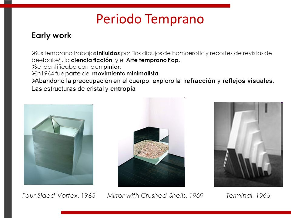 Periodo Temprano Early work