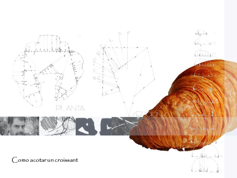 Como acotar un croissant