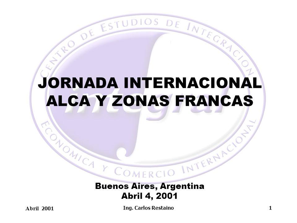 JORNADA INTERNACIONAL ALCA Y ZONAS FRANCAS Buenos Aires, Argentina Abril 4, 2001
