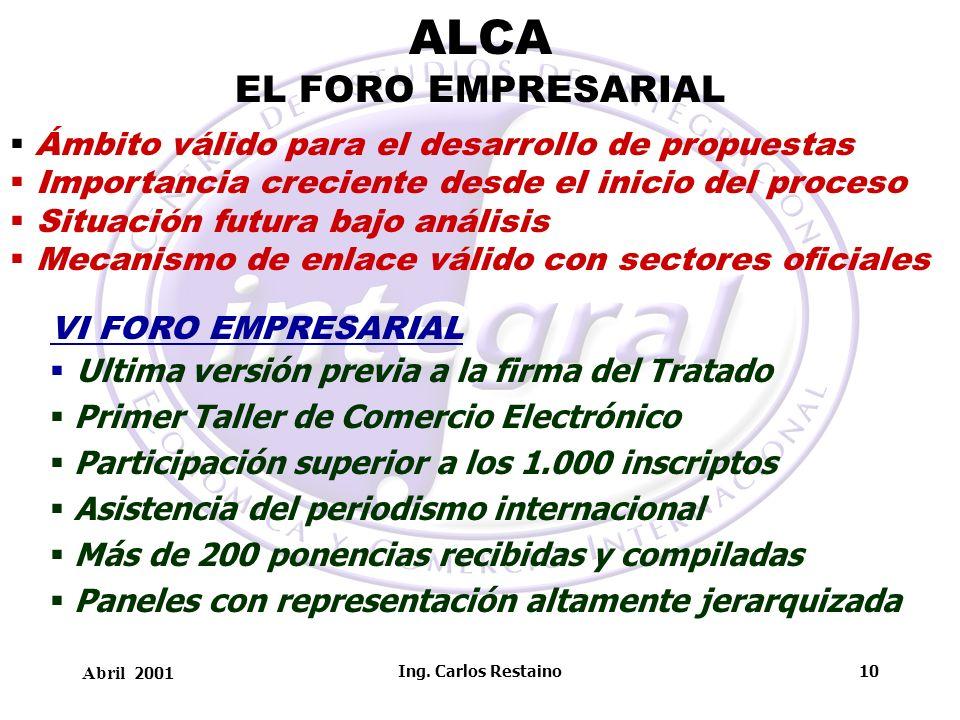 ALCA EL FORO EMPRESARIAL