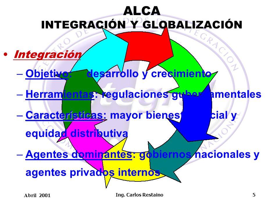 ALCA INTEGRACIÓN Y GLOBALIZACIÓN