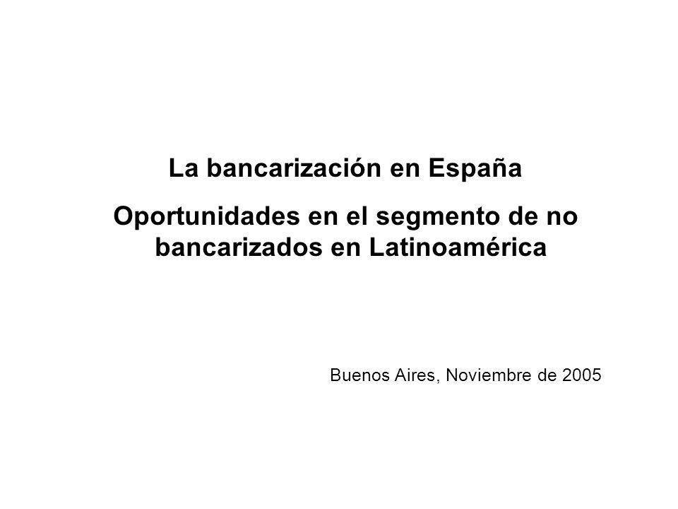 La bancarización en España