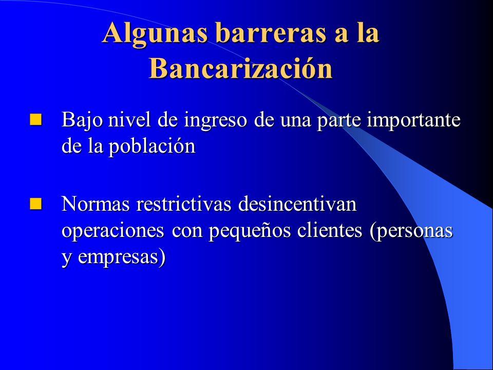Algunas barreras a la Bancarización