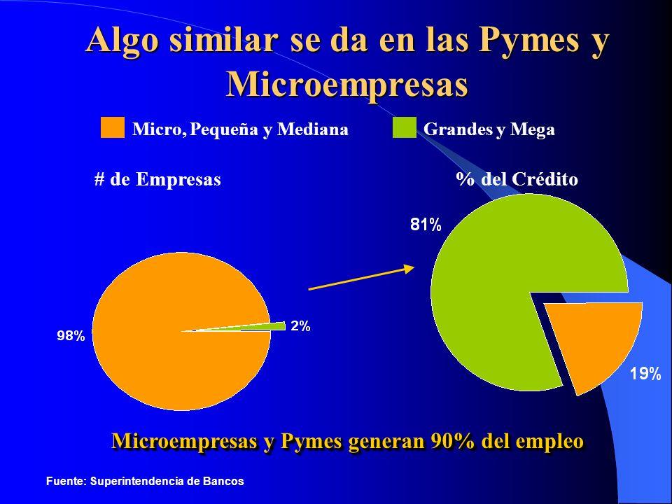 Algo similar se da en las Pymes y Microempresas