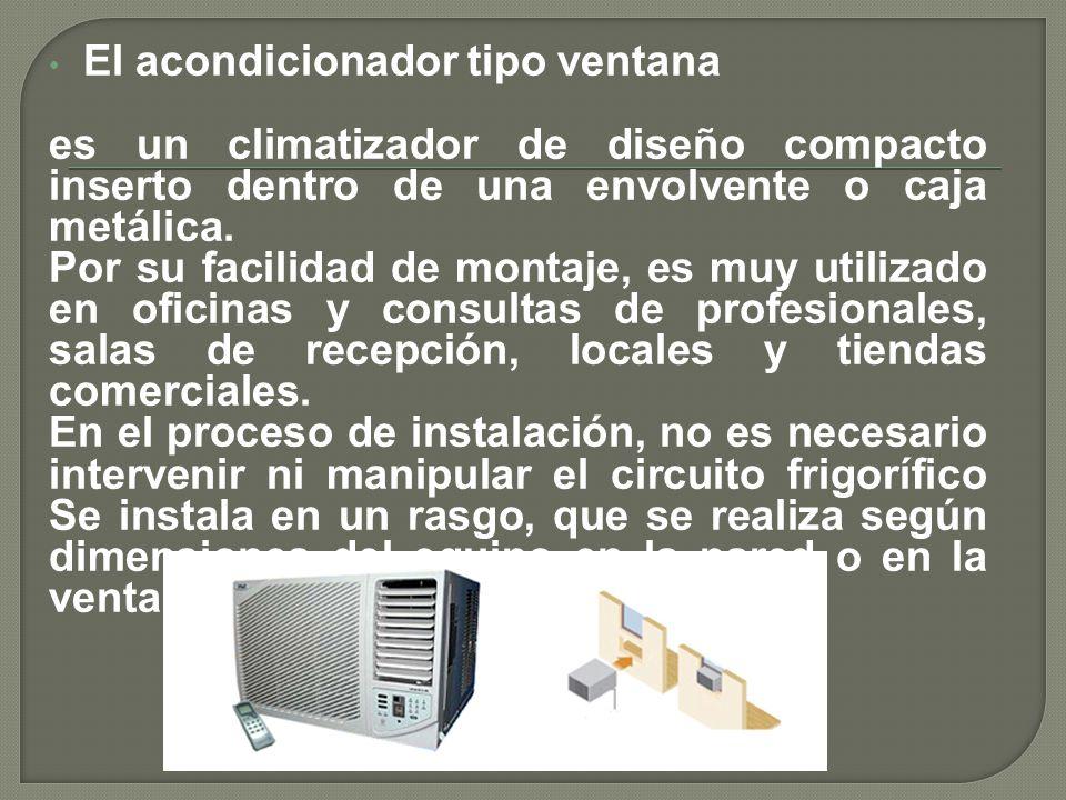 El acondicionador tipo ventana