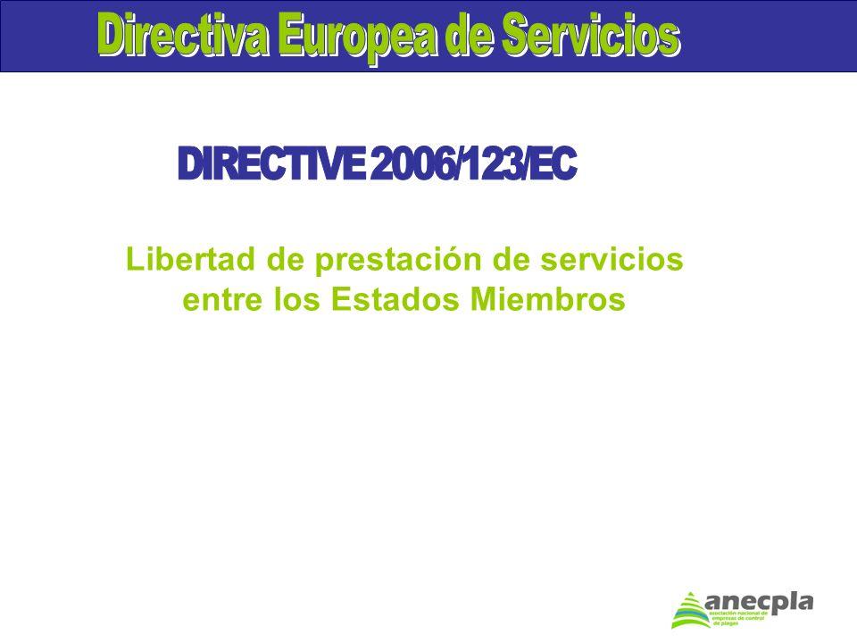 Directiva Europea de Servicios DIRECTIVE 2006/123/EC