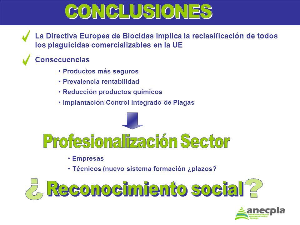 Profesionalización Sector Reconocimiento social