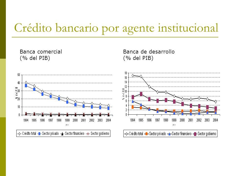 Crédito bancario por agente institucional
