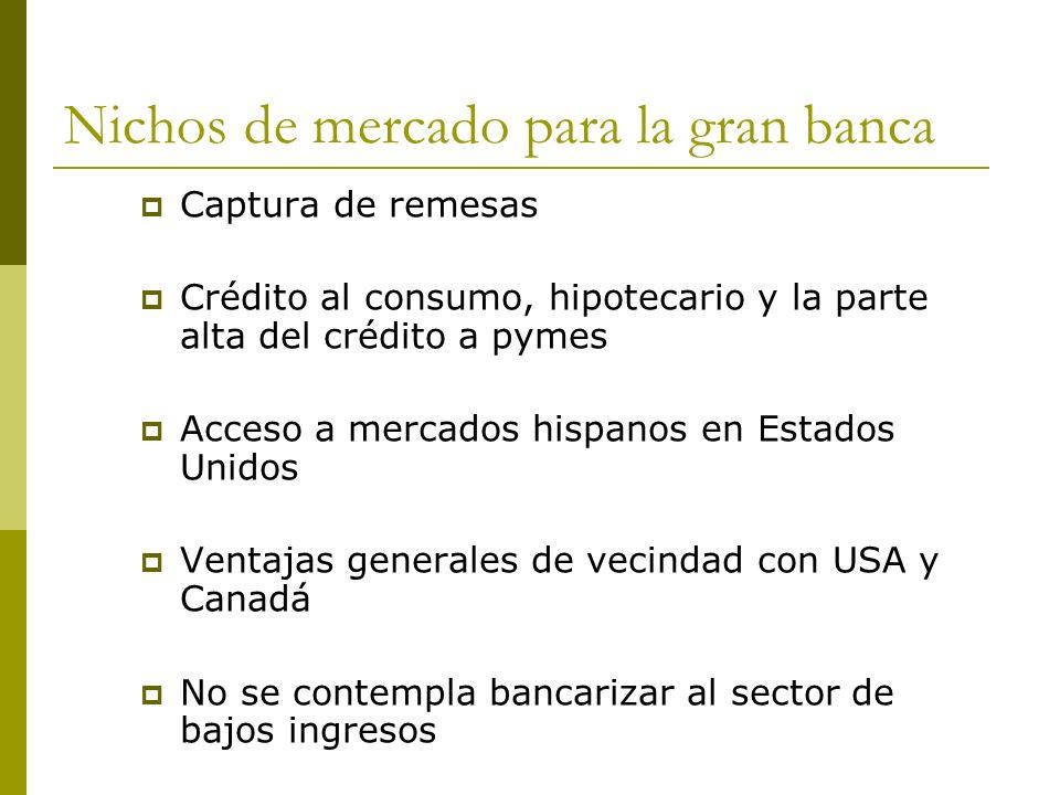 Nichos de mercado para la gran banca