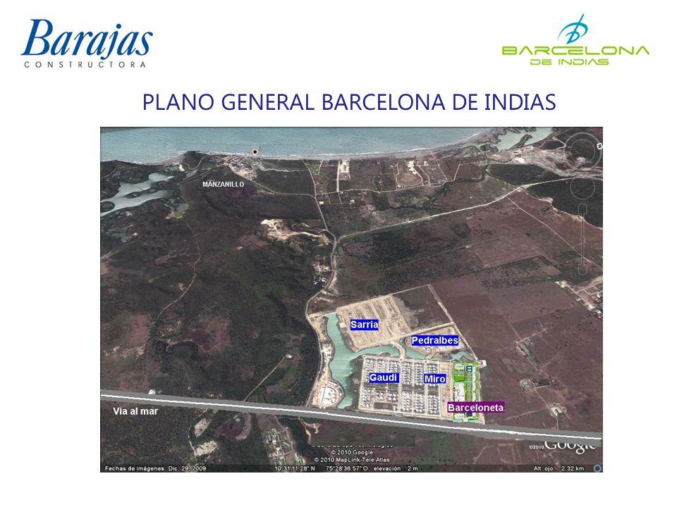 PLANO GENERAL BARCELONA DE INDIAS