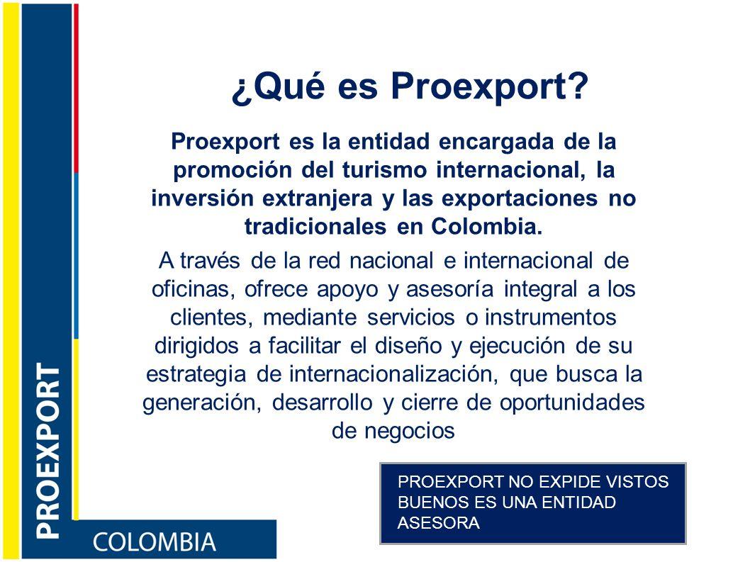 ¿Qué es Proexport