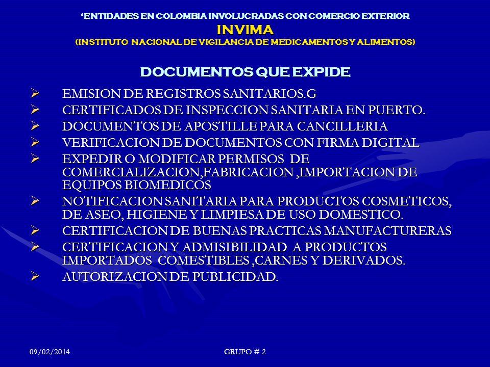 EMISION DE REGISTROS SANITARIOS.G