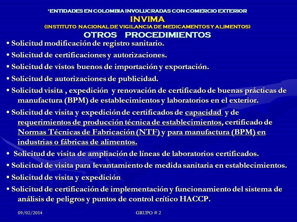 • Solicitud modificación de registro sanitario.