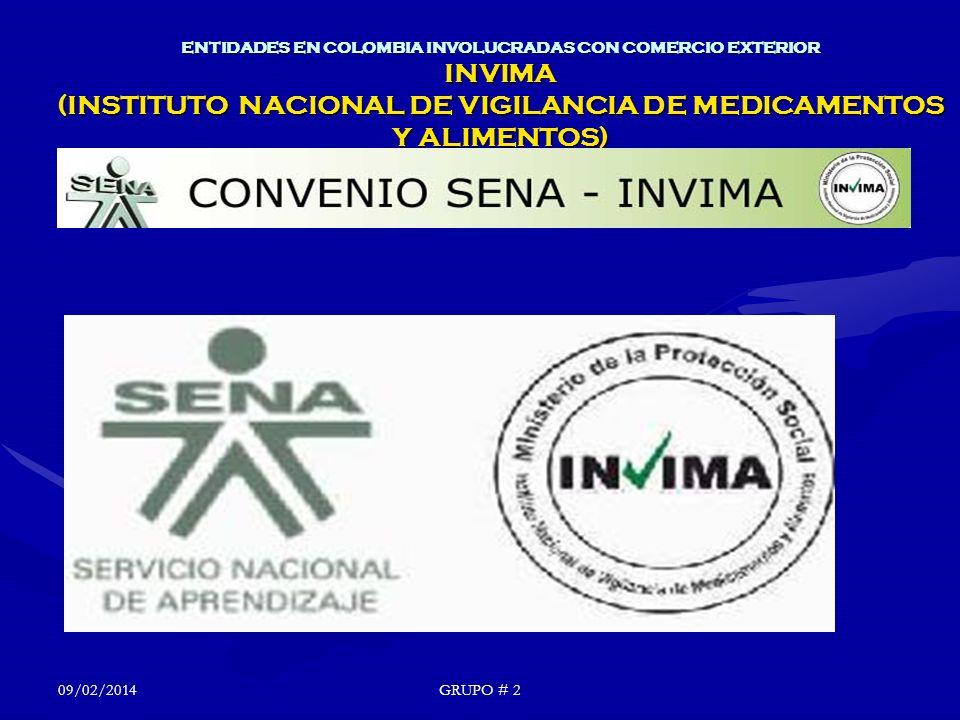 24/03/2017 ENTIDADES EN COLOMBIA INVOLUCRADAS CON COMERCIO EXTERIOR INVIMA (INSTITUTO NACIONAL DE VIGILANCIA DE MEDICAMENTOS Y ALIMENTOS)