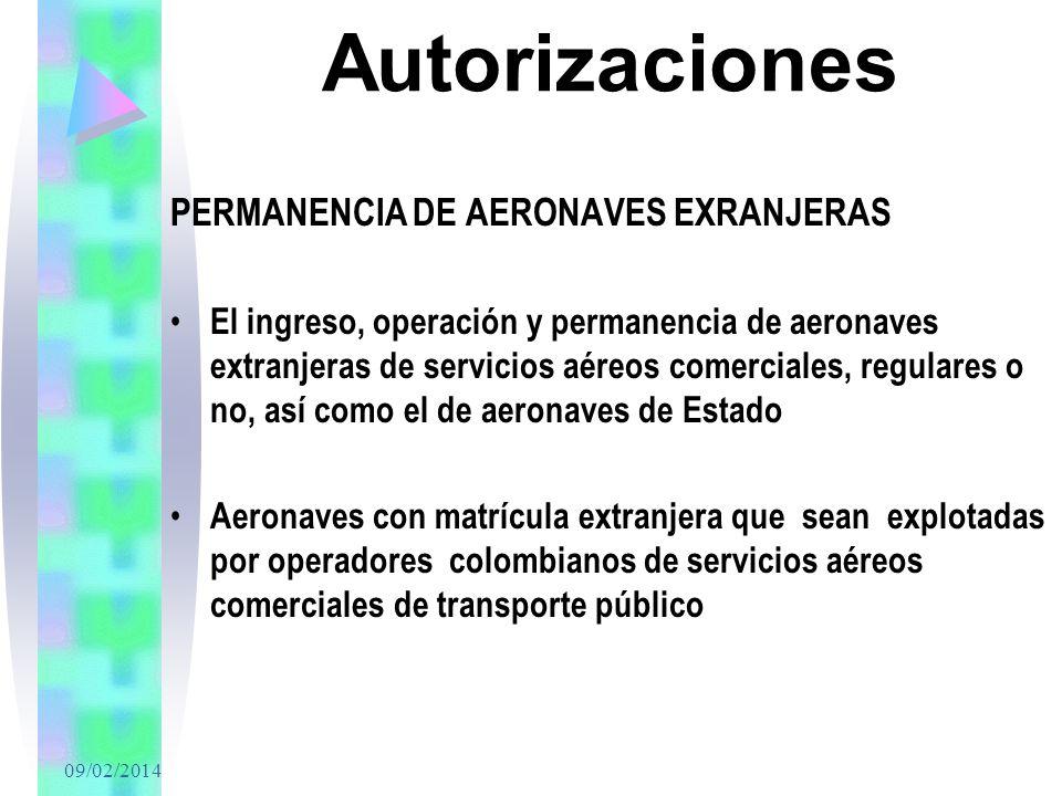 Autorizaciones PERMANENCIA DE AERONAVES EXRANJERAS