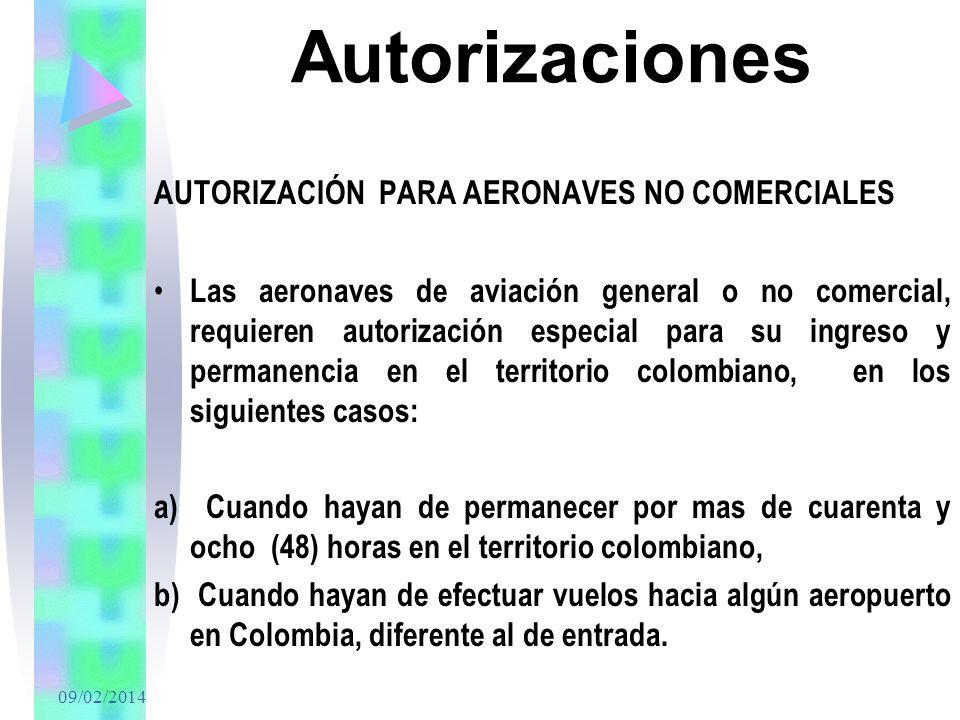 Autorizaciones AUTORIZACIÓN PARA AERONAVES NO COMERCIALES