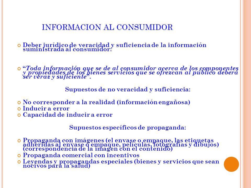 INFORMACION AL CONSUMIDOR