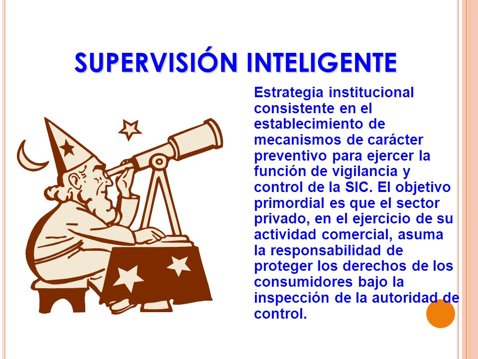 SUPERVISIÓN INTELIGENTE