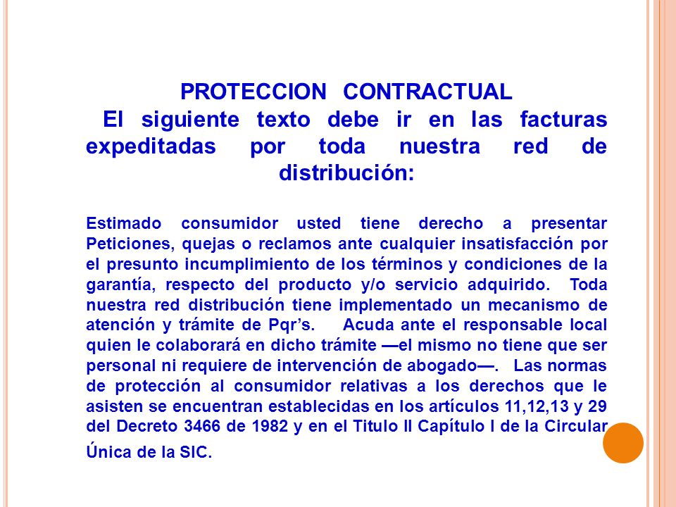 PROTECCION CONTRACTUAL