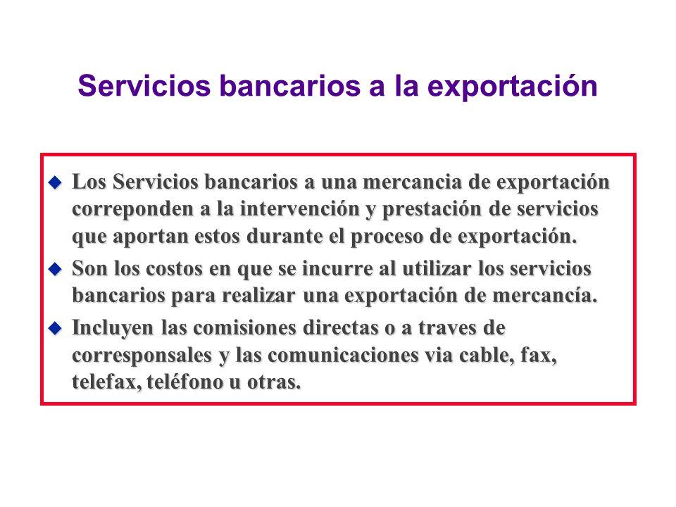 Servicios bancarios a la exportación