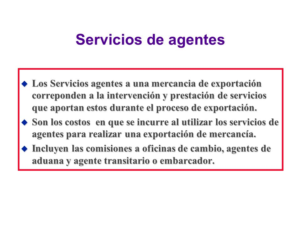 Servicios de agentes
