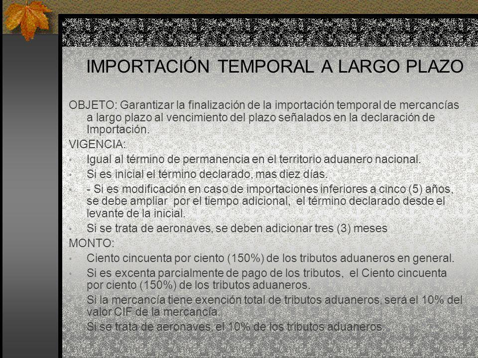 IMPORTACIÓN TEMPORAL A LARGO PLAZO
