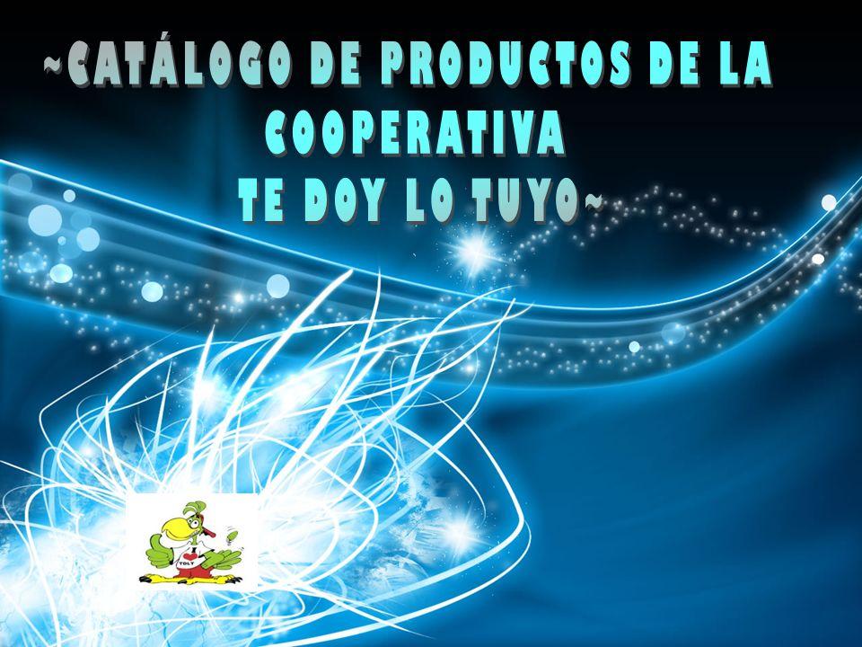 ~CATÁLOGO DE PRODUCTOS DE LA