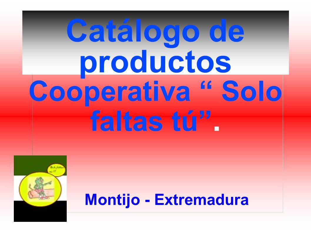 Catálogo de productos Cooperativa Solo faltas tú .