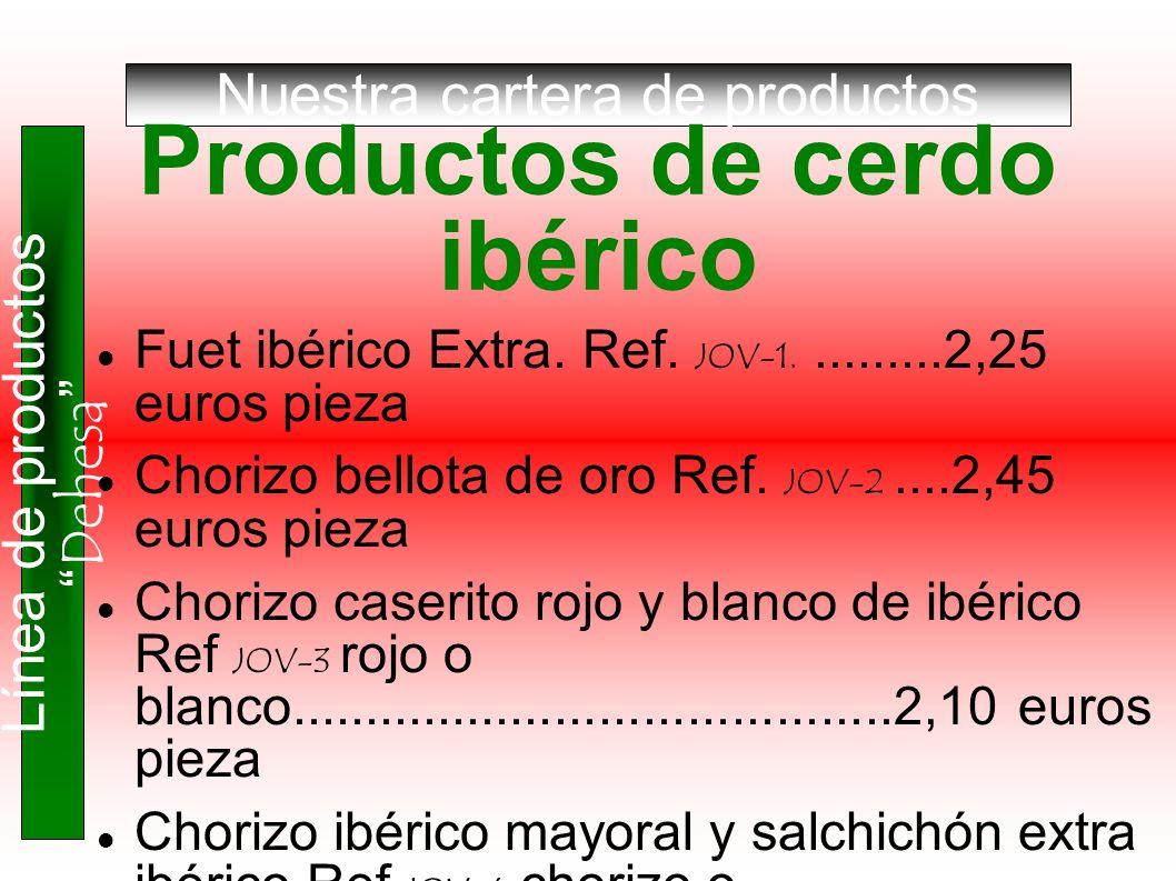 Productos de cerdo ibérico