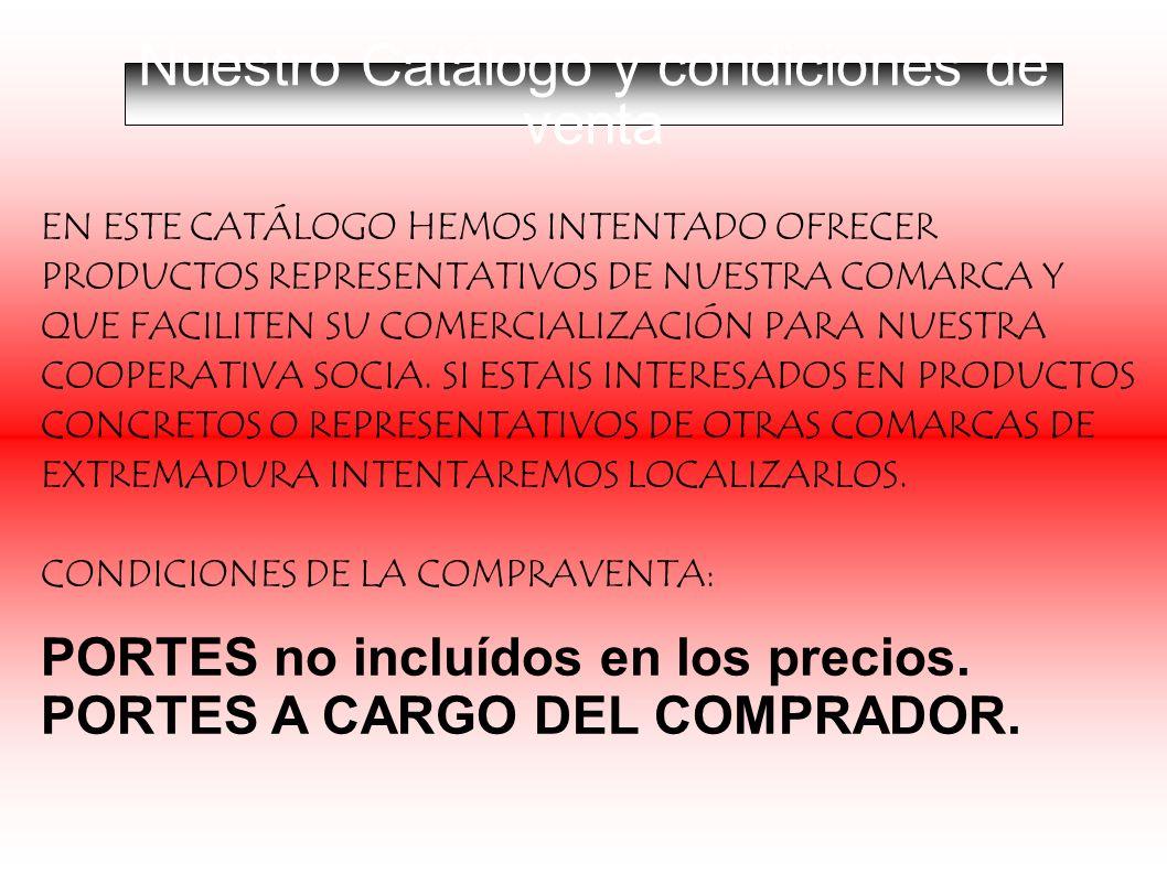Nuestro Catálogo y condiciones de venta