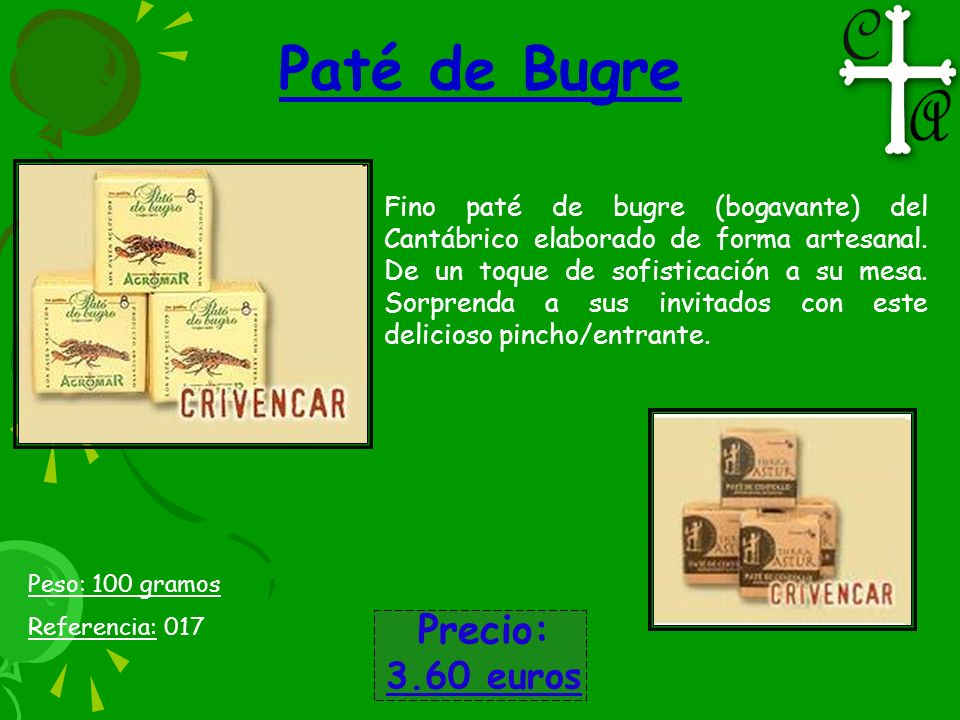 Paté de Bugre Precio: 3.60 euros
