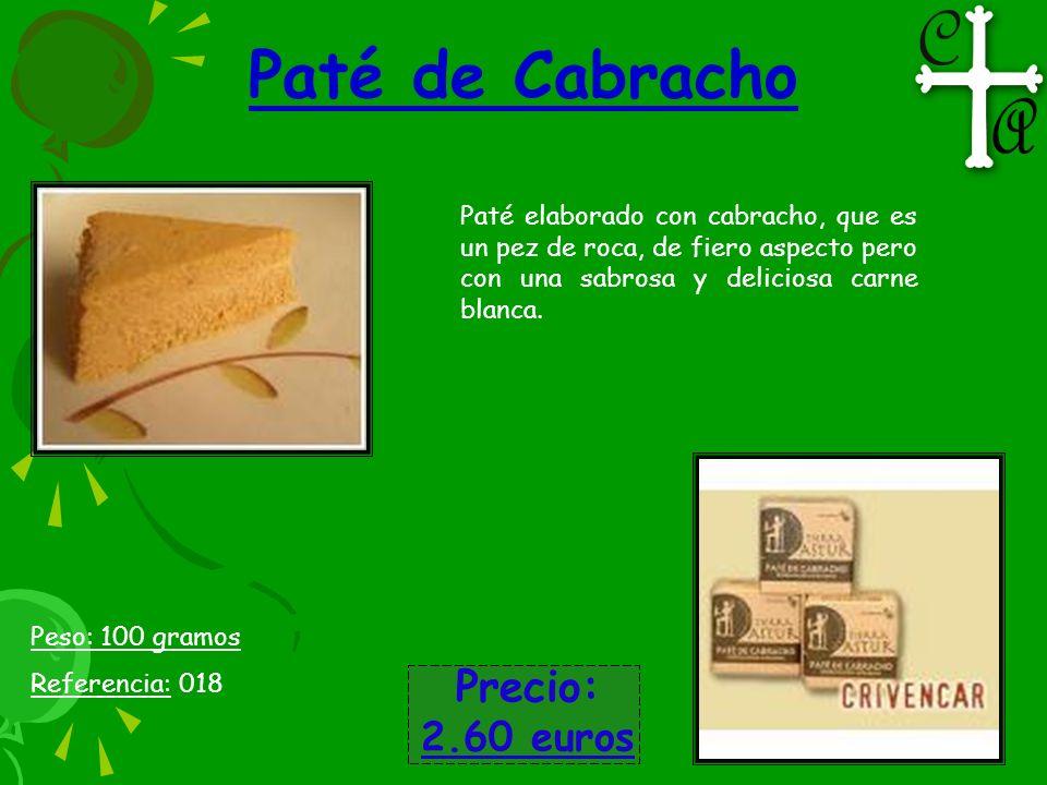 Paté de Cabracho Precio: 2.60 euros