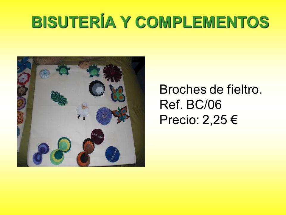 Broches de fieltro. Ref. BC/06 Precio: 2,25 €
