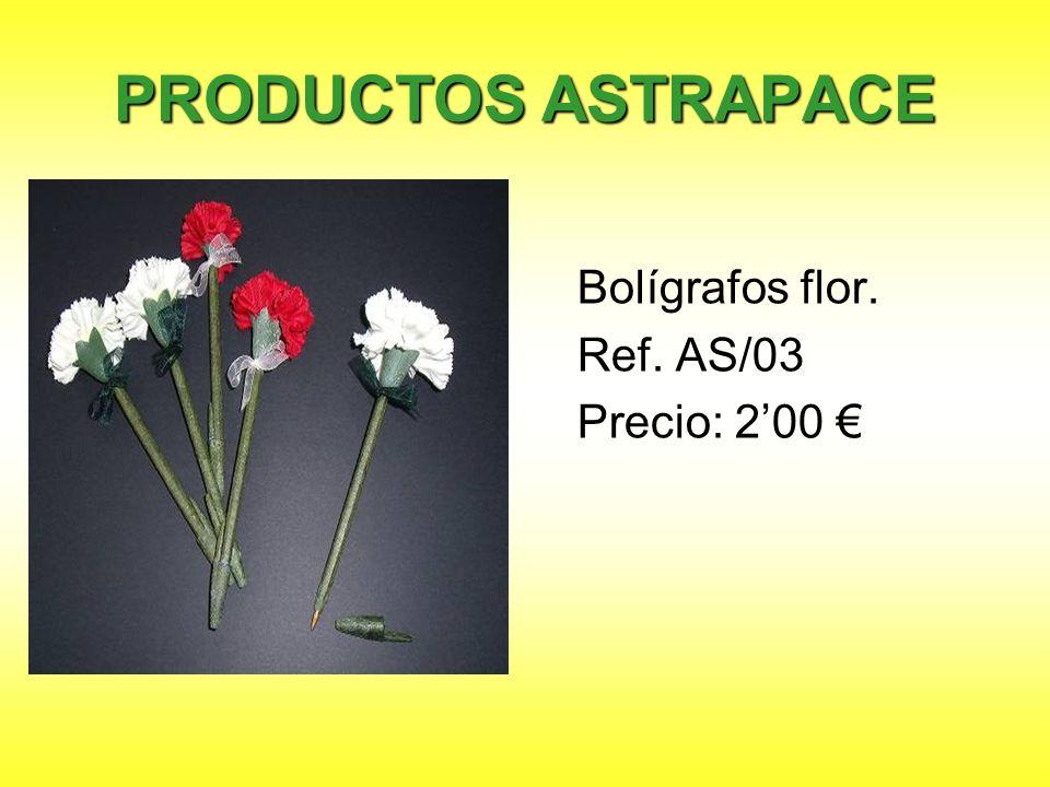 PRODUCTOS ASTRAPACE Bolígrafos flor. Ref. AS/03 Precio: 2'00 €