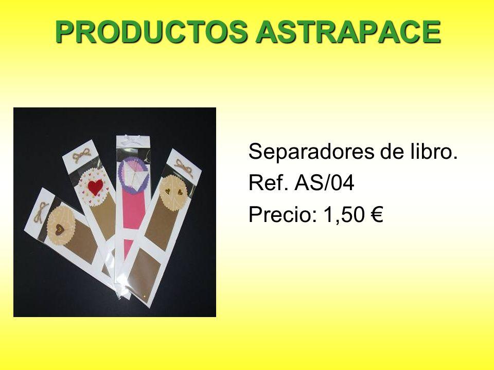 PRODUCTOS ASTRAPACE Separadores de libro. Ref. AS/04 Precio: 1,50 €