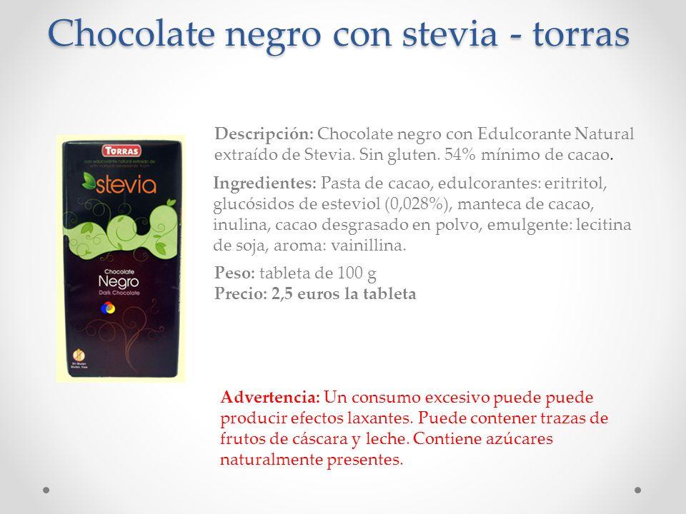 Chocolate negro con stevia - torras