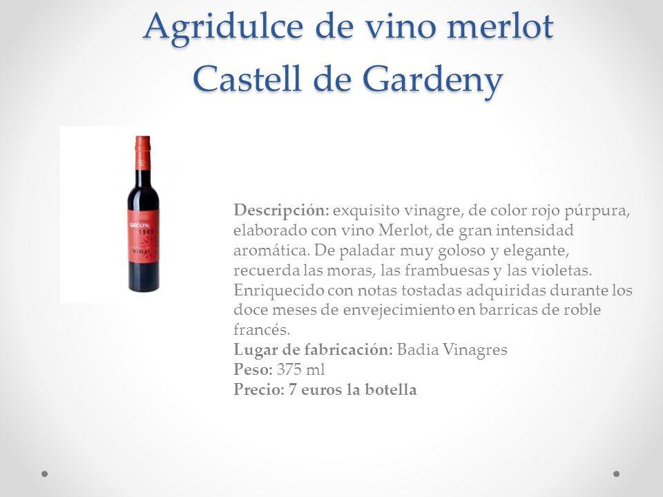 Agridulce de vino merlot Castell de Gardeny