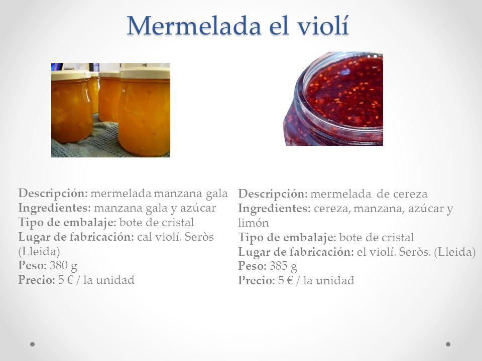 Mermelada el violí Descripción: mermelada manzana gala