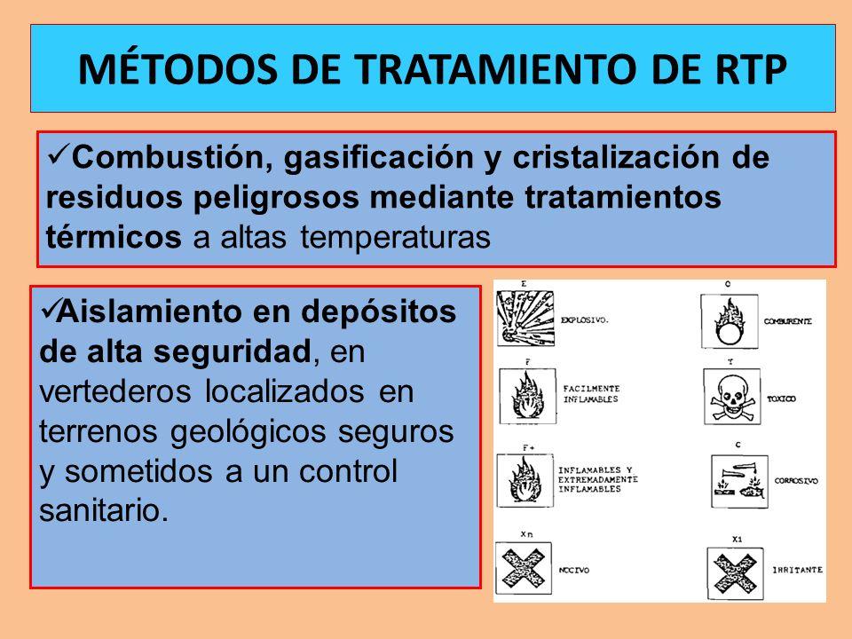MÉTODOS DE TRATAMIENTO DE RTP