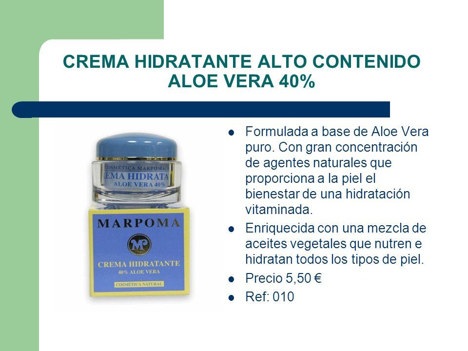 CREMA HIDRATANTE ALTO CONTENIDO ALOE VERA 40%