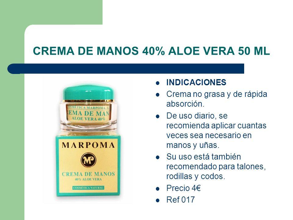 CREMA DE MANOS 40% ALOE VERA 50 ML