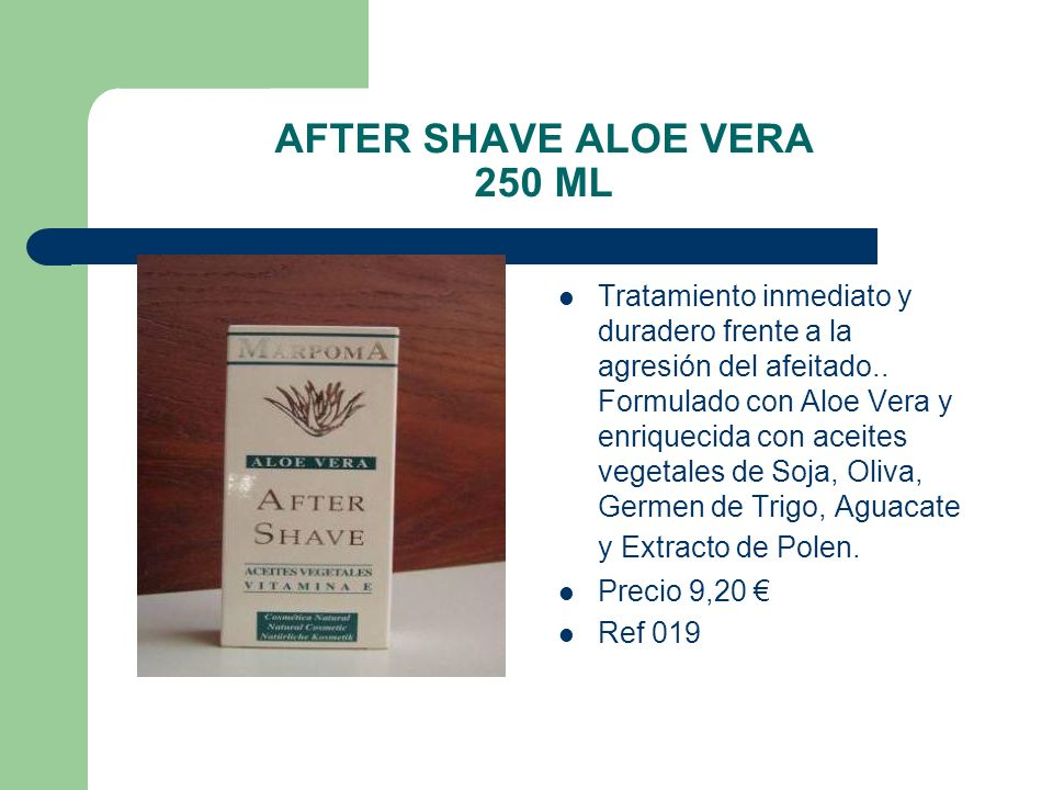 AFTER SHAVE ALOE VERA 250 ML