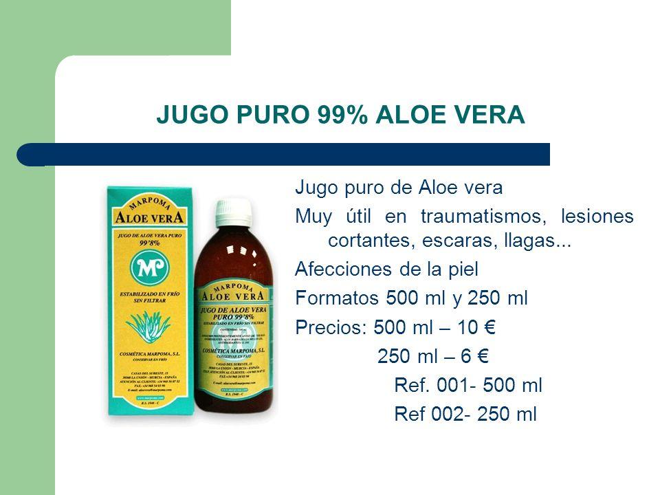 JUGO PURO 99% ALOE VERA Jugo puro de Aloe vera