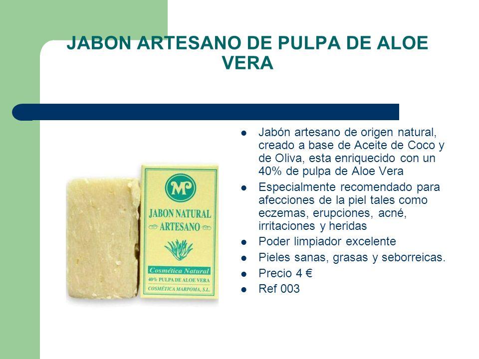 JABON ARTESANO DE PULPA DE ALOE VERA