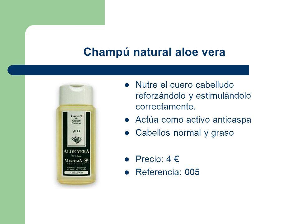 Champú natural aloe vera