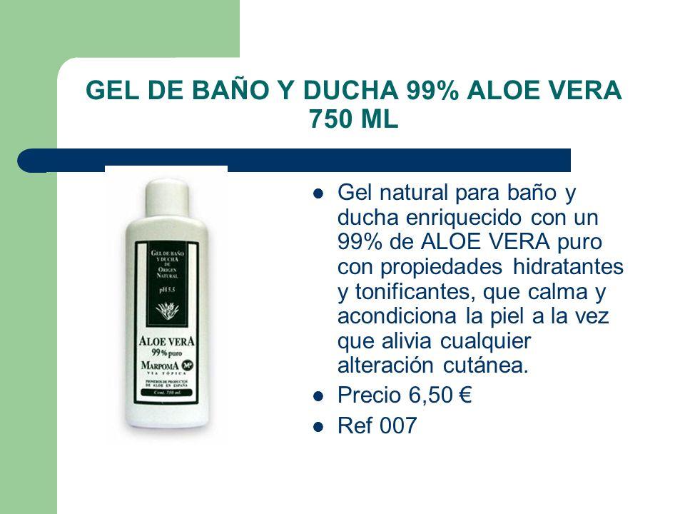 GEL DE BAÑO Y DUCHA 99% ALOE VERA 750 ML