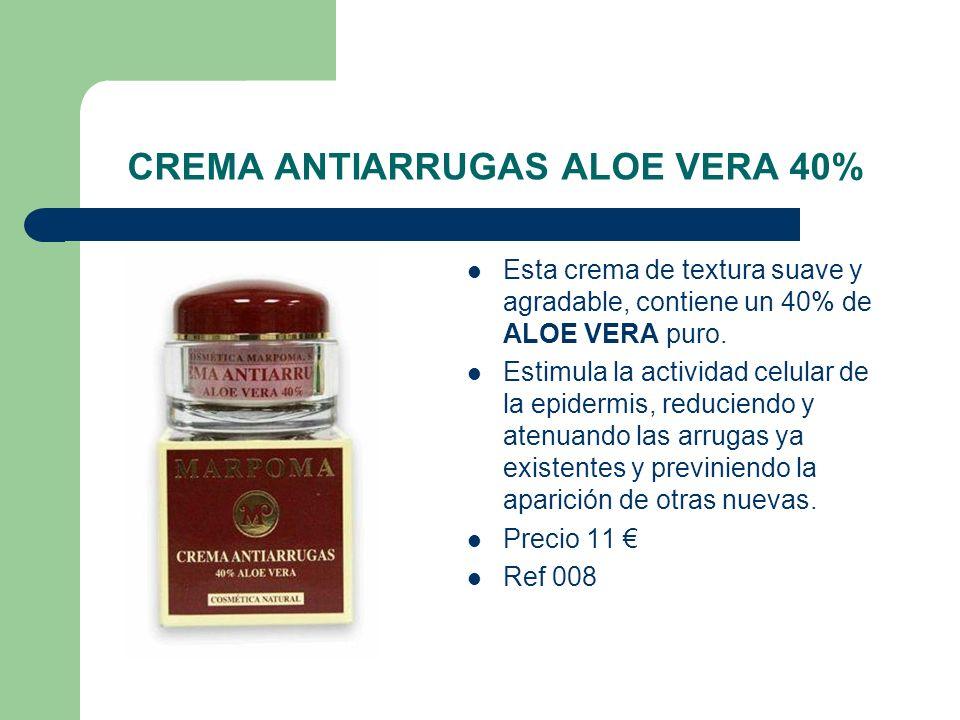 CREMA ANTIARRUGAS ALOE VERA 40%